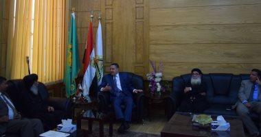 Photo of رئيس جامعة بنها يستقبل وفد الكنيسة الأرثوذكسية للتهنئة بعيد الأضحى المبارك