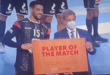 """Photo of """"دودو"""" أفضل لاعب في مباراة مصر وبيلاروسيا بمونديال اليد"""