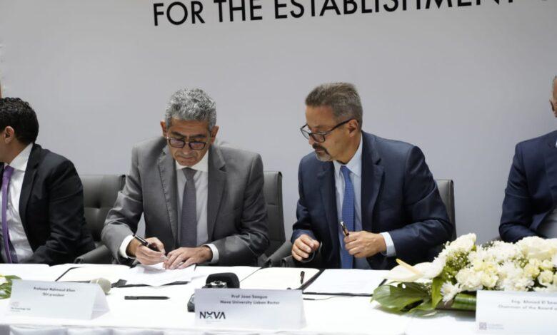 Photo of توقيع عقد إنشاء فرع جامعة نوفا البرتغالية بالعاصمة الإدارية الجديدة